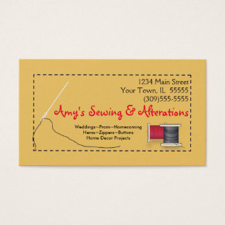 Sewing Alterations Business Cards