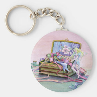 SEWING BOX FAERIE by SHARON SHARPE Key Ring