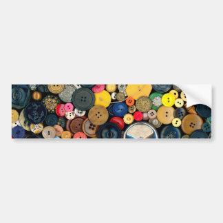 Sewing - Buttons - Bunch of Buttons Bumper Sticker