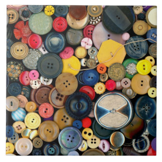 Sewing - Buttons - Bunch of Buttons Large Square Tile