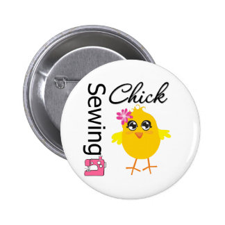 Sewing Chick 6 Cm Round Badge