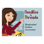 Sewing Couture needle threads Business Card - PMP
