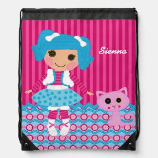 Sewing doll drawstring bag