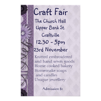 Sewing, Embroidery and Decorative Crafts Fair Flye 14 Cm X 21.5 Cm Flyer