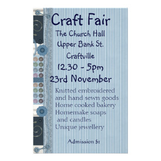 Sewing, Embroidery and Decorative Crafts Fair Flye Personalized Flyer