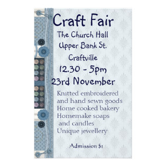 Sewing, Embroidery and Decorative Crafts Fair Flye Custom Flyer