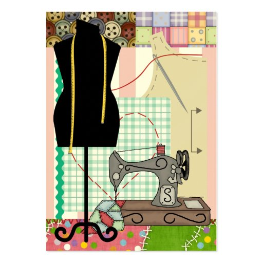 Sewing Gift Enclosure / Crafter Card Business Card Templates