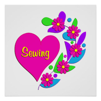 Sewing Heart Poster
