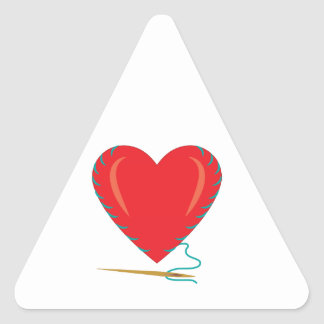 Sewing Heart Triangle Sticker