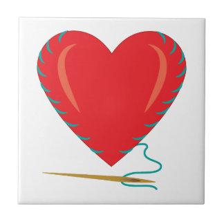 Sewing Heart Ceramic Tile