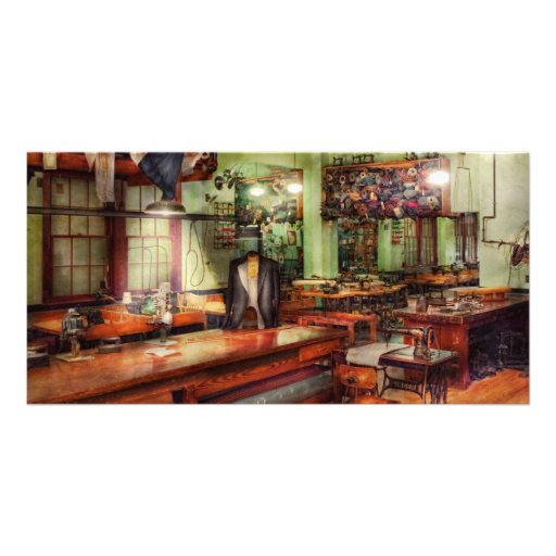Sewing - Industrial - The sweat shop Photo Greeting Card