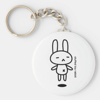 Sewing involving the rabbit/floating basic round button key ring
