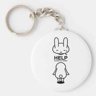 Sewing involving the rabbit/help basic round button key ring