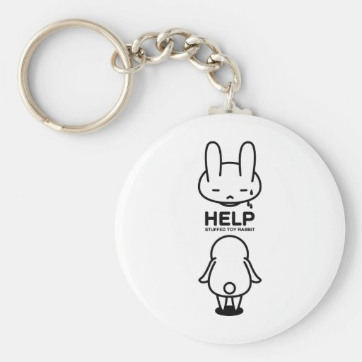 Sewing involving the rabbit/help key chains