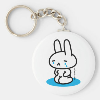 Sewing involving the rabbit/it cries basic round button key ring