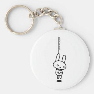 Sewing involving the rabbit/neck hanging awakening basic round button key ring
