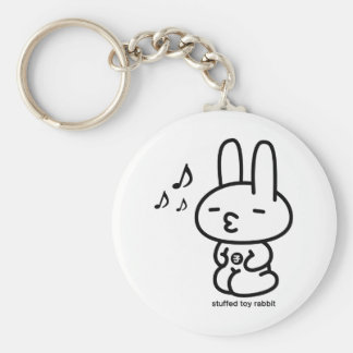 Sewing involving the rabbit/runrun feeling basic round button key ring