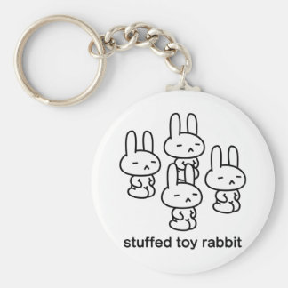 Sewing involving the rabbit/sitting straight basic round button key ring