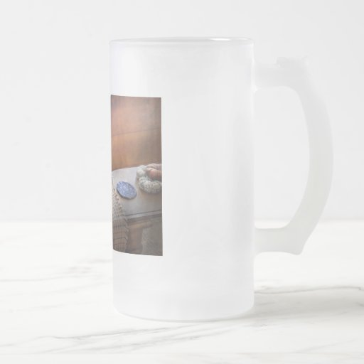 Sewing - It's just Black and White Frosted Glass Mug