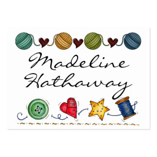 Sewing - Knitting - Handmade -  SRF Pack Of Chubby Business Cards