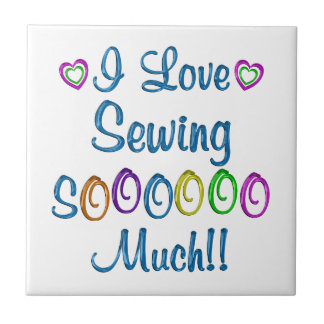 Sewing Love So Much Tile