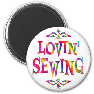 Sewing Lover 6 Cm Round Magnet