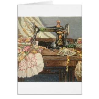 Sewing Machine and Dress Card