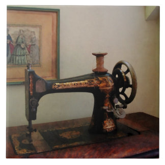 Sewing Machine and Lithograph Tiles