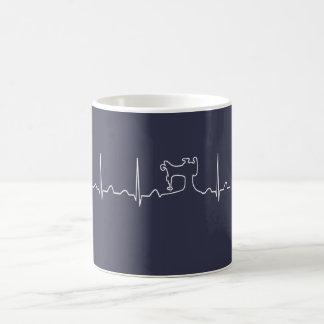 SEWING MACHINE HEARTBEAT COFFEE MUG