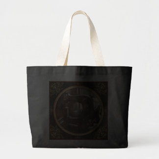 Sewing Machine - Leather - Saddle Sewer Jumbo Tote Bag