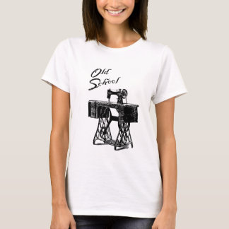 Sewing Machine 'Old School' Ladies T-Shirt