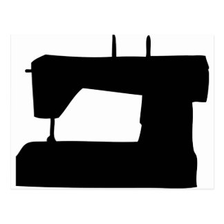 sewing machine postcard