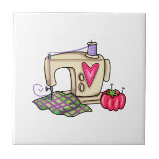 Sewing Machine Ceramic Tile