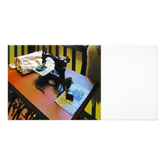 Sewing Machine with Cloth Photo Cards