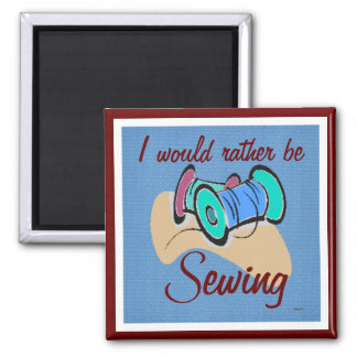 Sewing Magnet cranberry blue