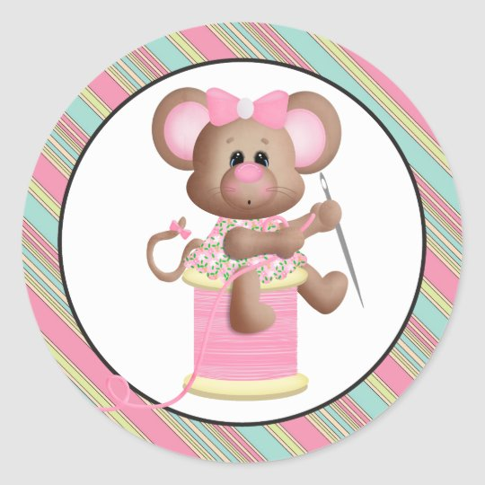 Sewing Mouse with thread sticker