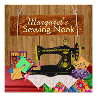 Sewing Nook Sign - Poster - SRF