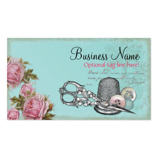 Sewing Notions Business Card Templates