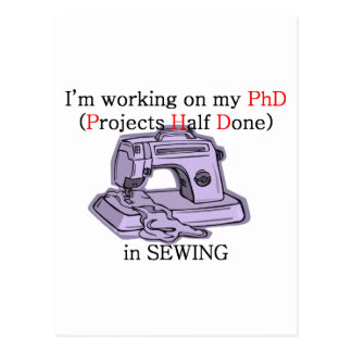 Sewing PhD Postcard