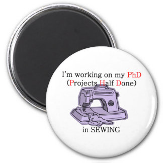 Sewing PhD Refrigerator Magnets