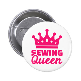 Sewing queen 6 cm round badge