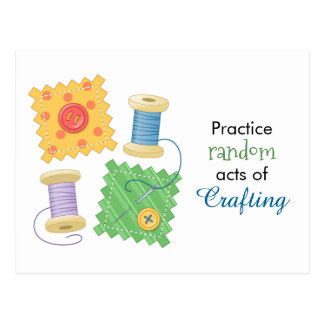Sewing Quilting Craft Hobby Quote Postcard