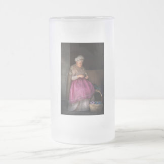 Sewing - Ribbon - Granny's hobby Frosted Glass Beer Mug