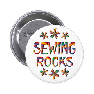 Sewing Rocks 2 Inch Round Button