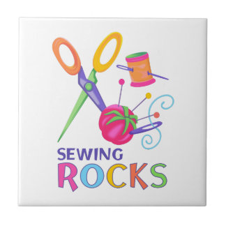 SEWING ROCKS SMALL SQUARE TILE
