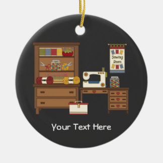 Sewing Room 1 (customizable) Christmas Ornament