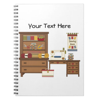 Sewing Room 1 (customizable) Note Books