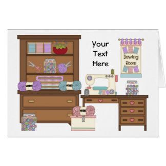 Sewing Room 2 (personalized) Card