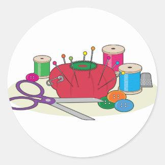 Sewing Round Sticker