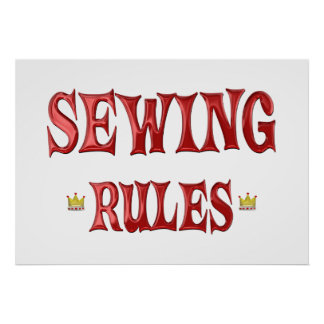 Sewing Rules Poster